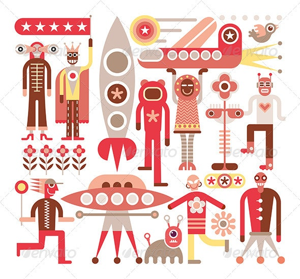Humans and Aliens  - People Characters