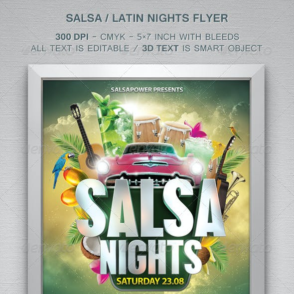 Salsa / Latin Nights Flyer