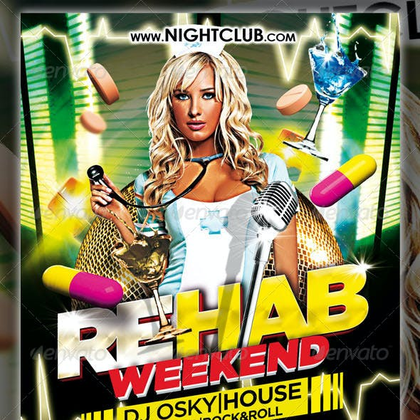 Rehab Weekend Party Flyer
