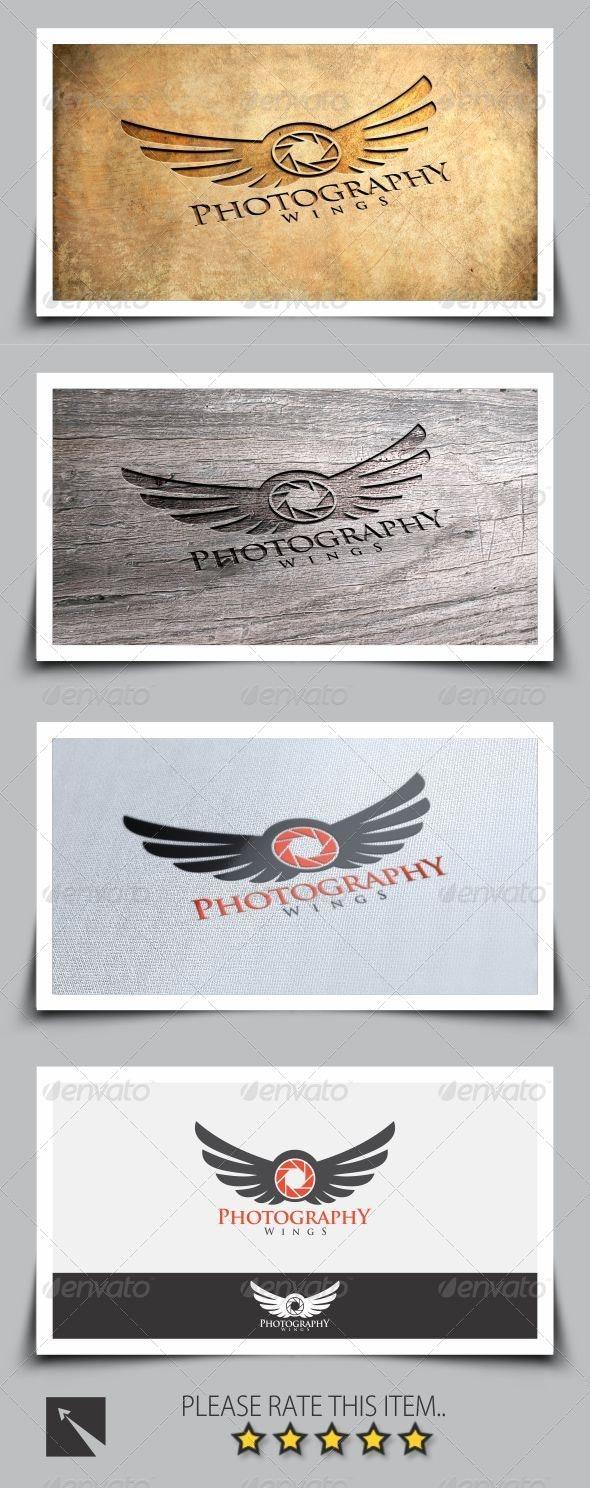 Photography Wings Logo - Symbols Logo Templates