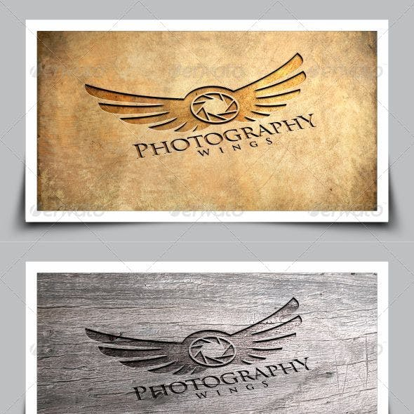 Photography Wings Logo