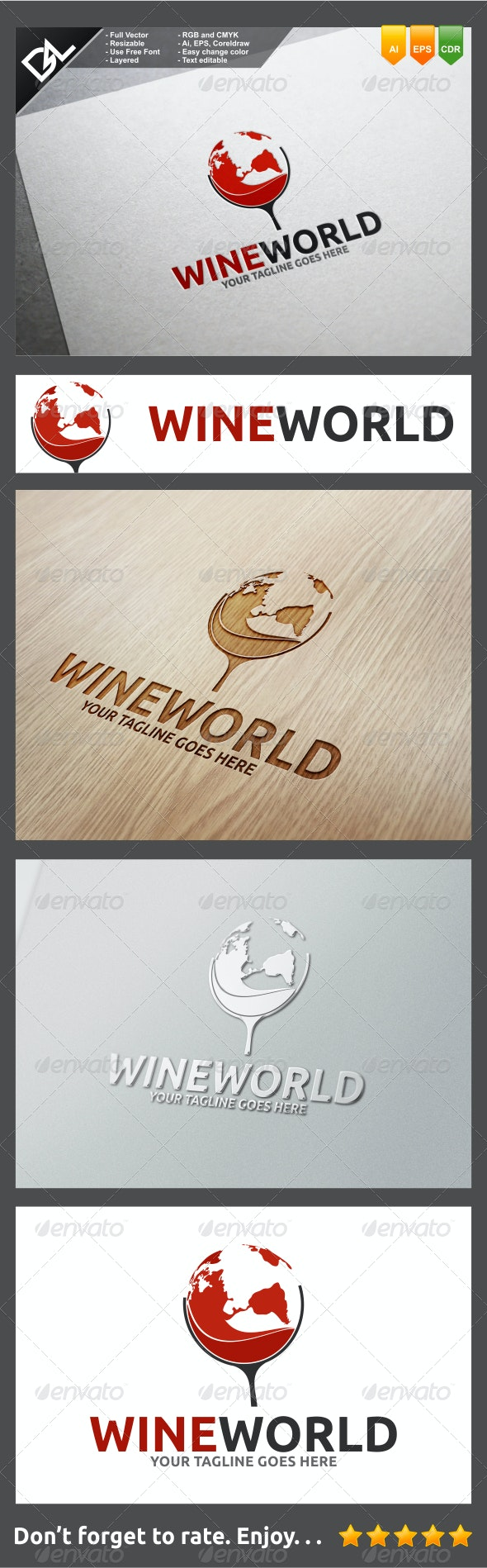 Wine World - Food Logo Templates