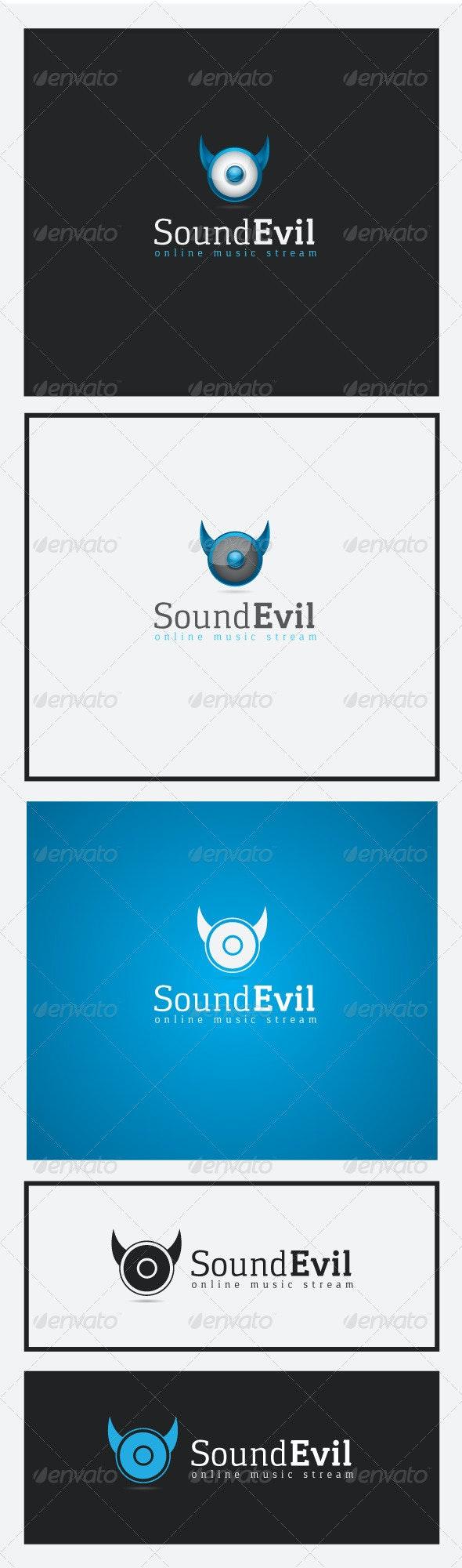 Sound Evil Logo - Vector Abstract
