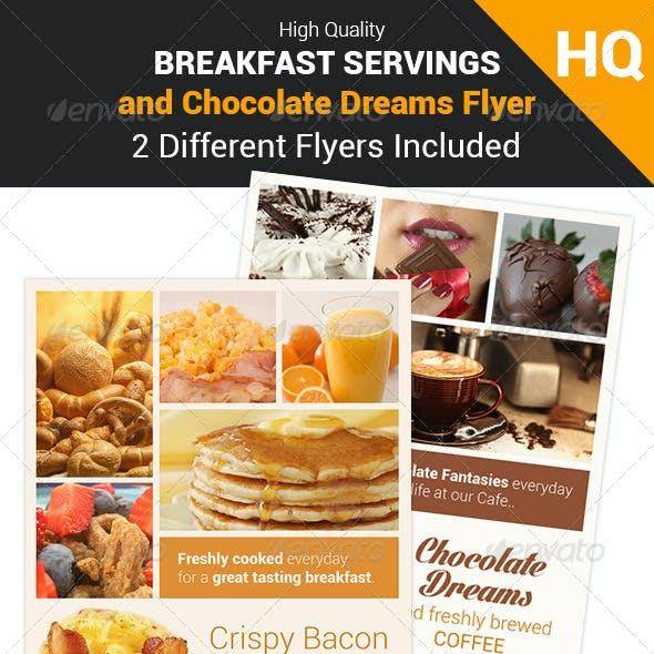Breakfast and Chocolate Flyer Set