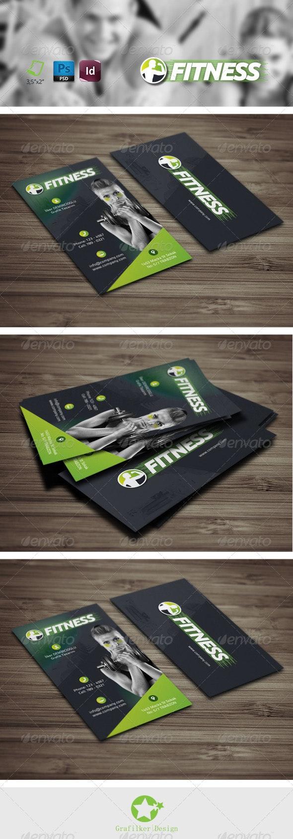 Fitness Salon Business Card Templates - Business Cards Print Templates
