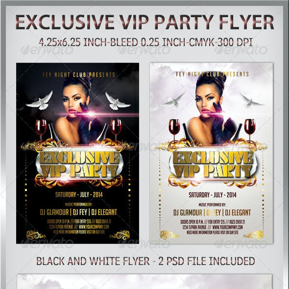 Exclusive VIP Party Flyer
