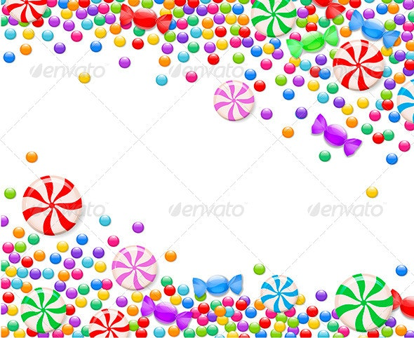 Background of Candies - Borders Decorative