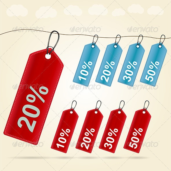 Illustration of Price Tags - Retail Commercial / Shopping