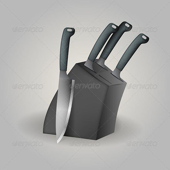 Illustration of Knife Set
