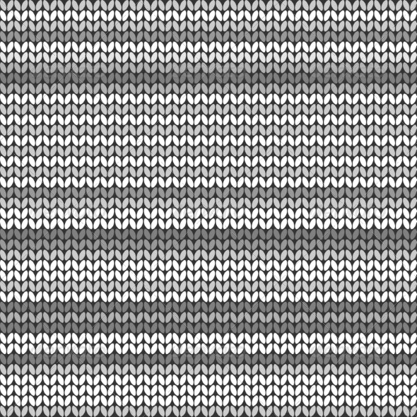 Gray Striped Knitted Background - Backgrounds Decorative