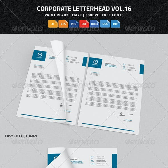 Corporate Letterhead vol.16  with MS Word DOC/DOCX
