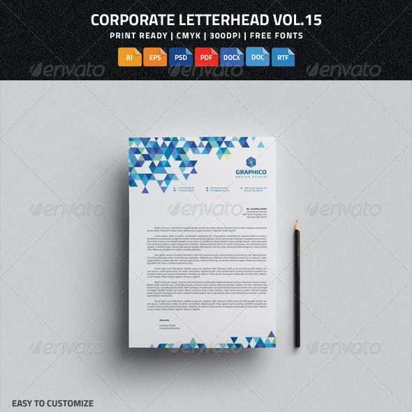 Corporate Letterhead vol.15 with MS Word DOC/DOCX