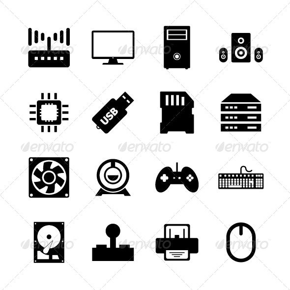 Computer Hardware Icon - Technology Icons