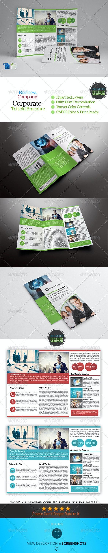 Corporate Trifold Brochure Template - Corporate Brochures