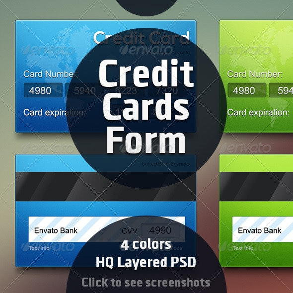 Credit Card Forms - Forms Web Elements