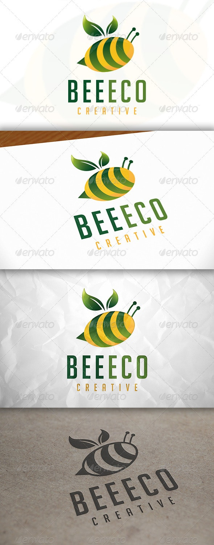 Bee Eco Logo - Animals Logo Templates