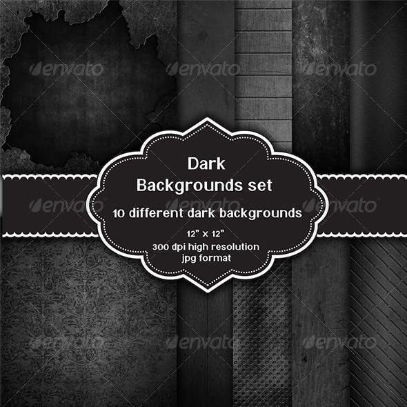 Dark Backgrounds Set