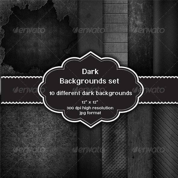 Dark Backgrounds Set - Backgrounds Graphics