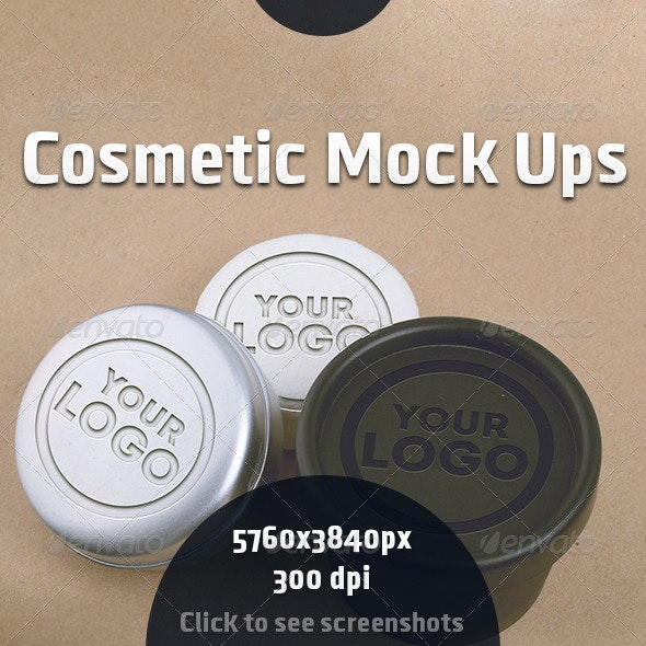 Cosmetic Mock Ups - Product Mock-Ups Graphics