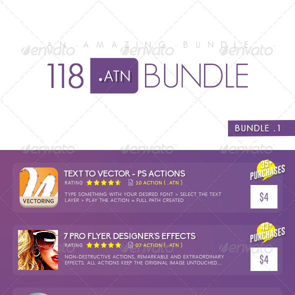 118 Must Have Photoshop Action In Bundle