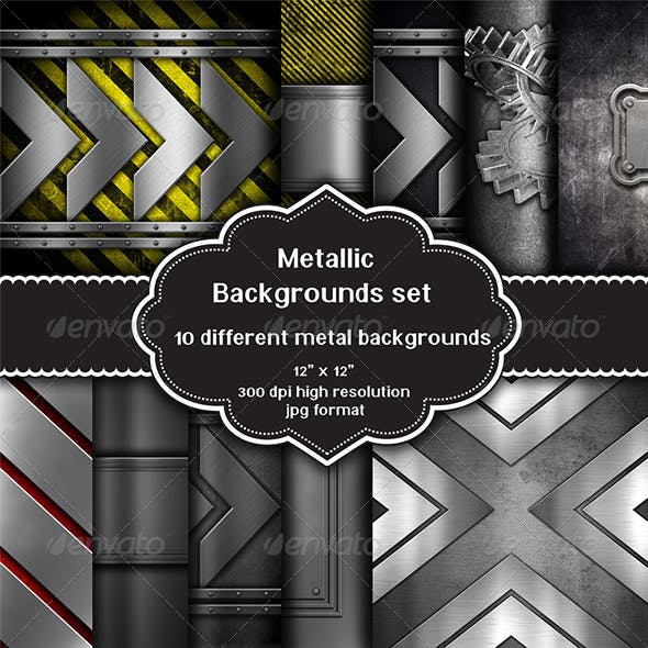 Collection of Metallic Backgrounds