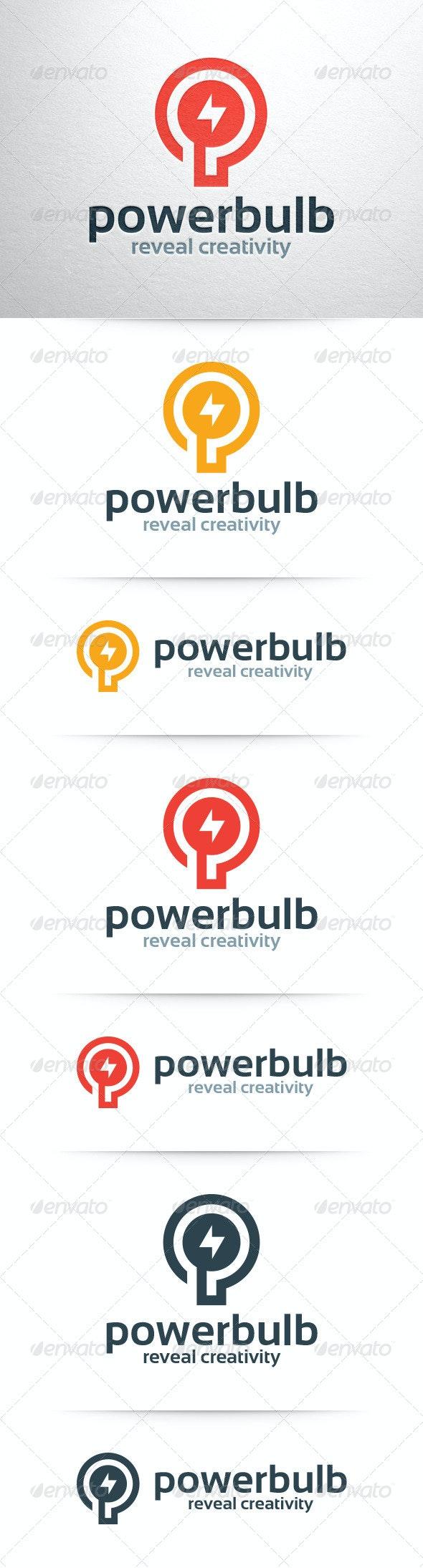 Power Bulb Logo Template - Symbols Logo Templates