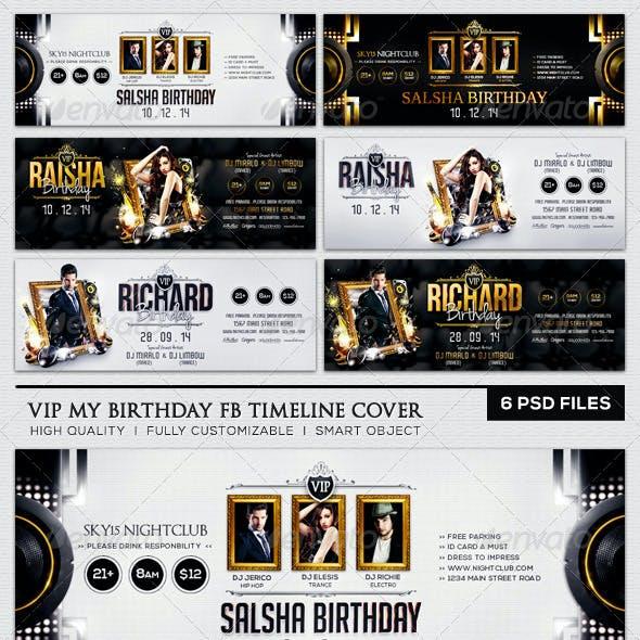 VIP My Birthday FB Timeline Cover