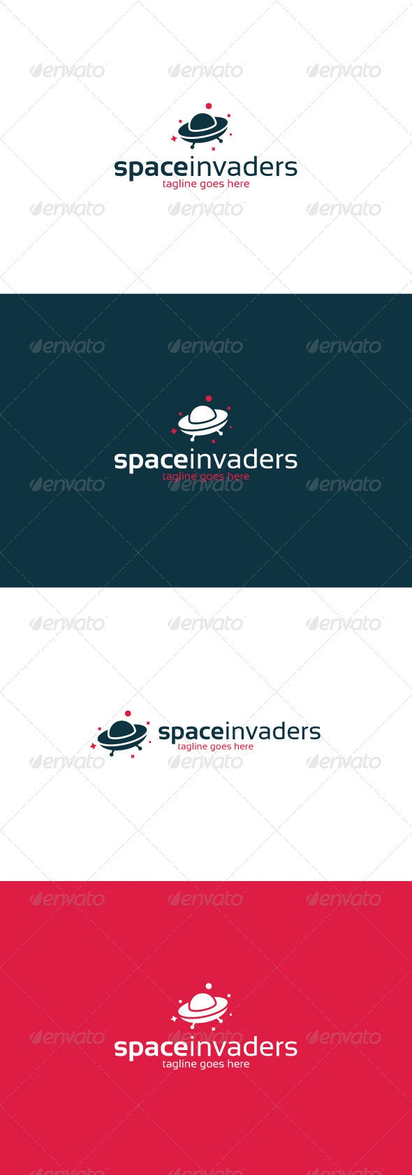 Space Invaders Logo - Objects Logo Templates