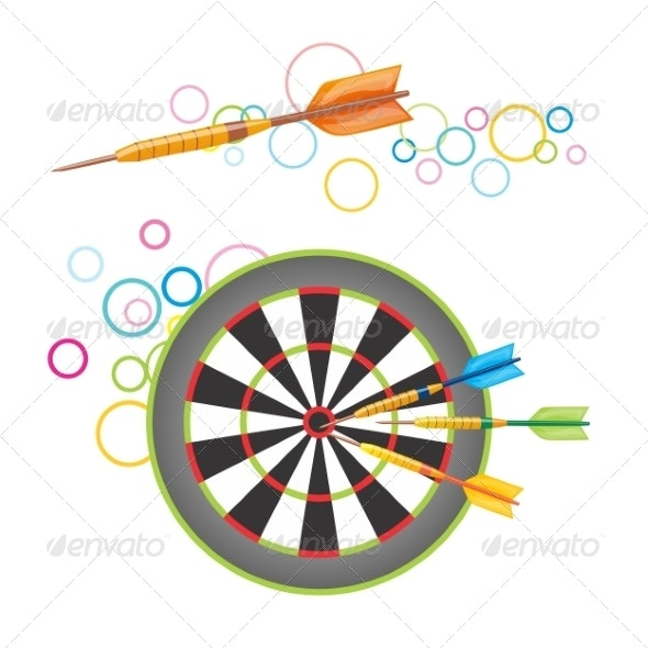 Darts with Dartboard - Buildings Objects