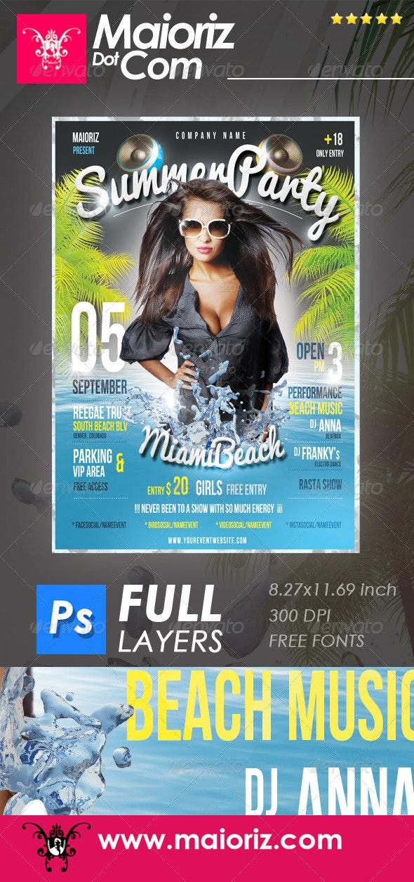 Summer Beach Flyer Event - Clubs & Parties Events