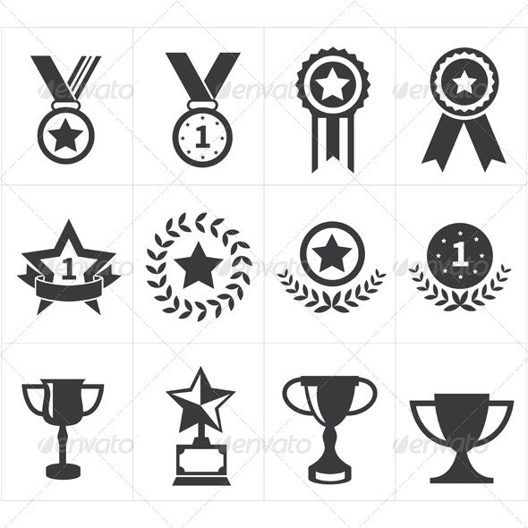 Trophy Award Icons - Miscellaneous Conceptual