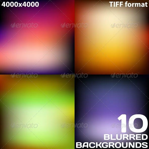 Dark Blurred Backgrounds with Vignette