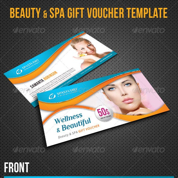 Beauty and Spa Gift Voucher V14