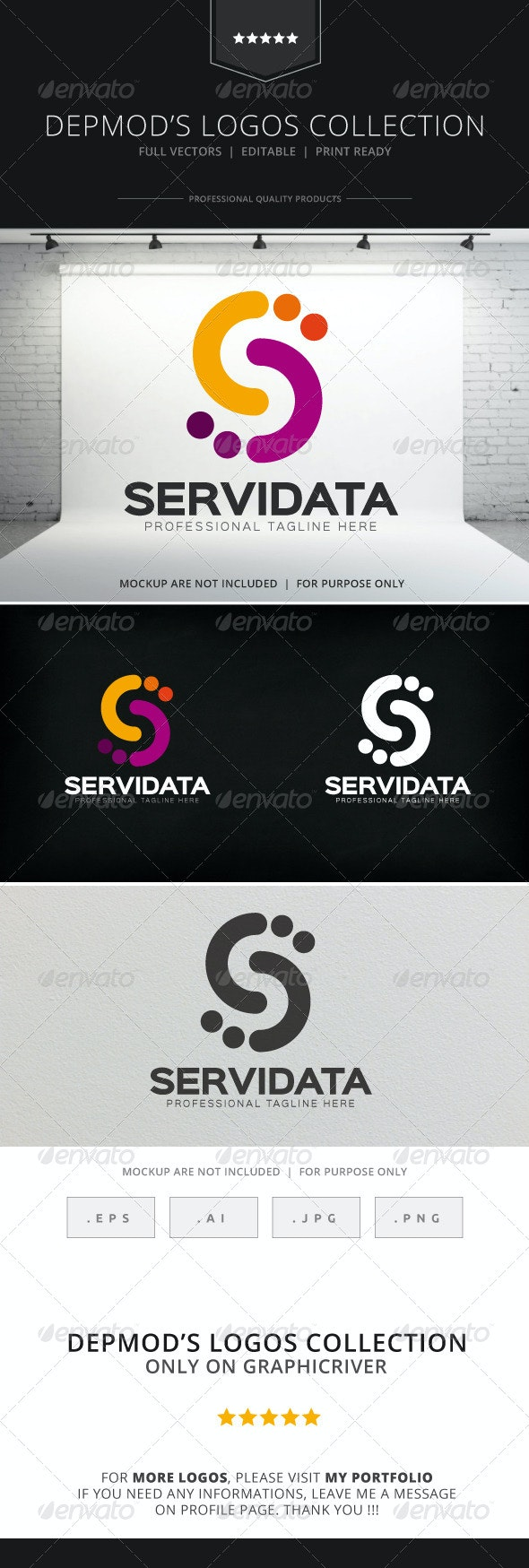 Servi Data Logo - Letters Logo Templates