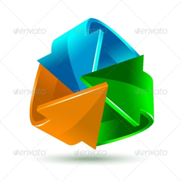 Colorful Bright Arrows Icon - Concepts Business