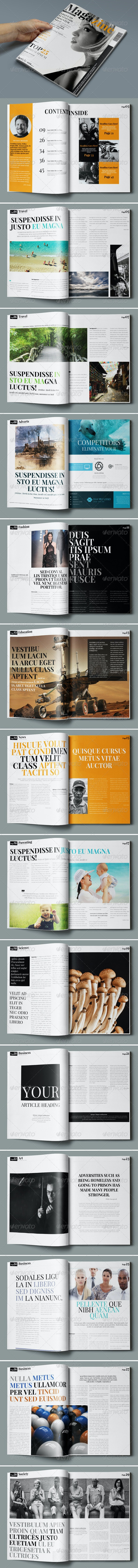 30 Pages Creative Magazine - Magazines Print Templates