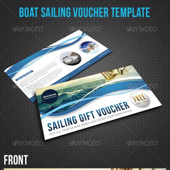 Boat Sailing Gift Voucher V15