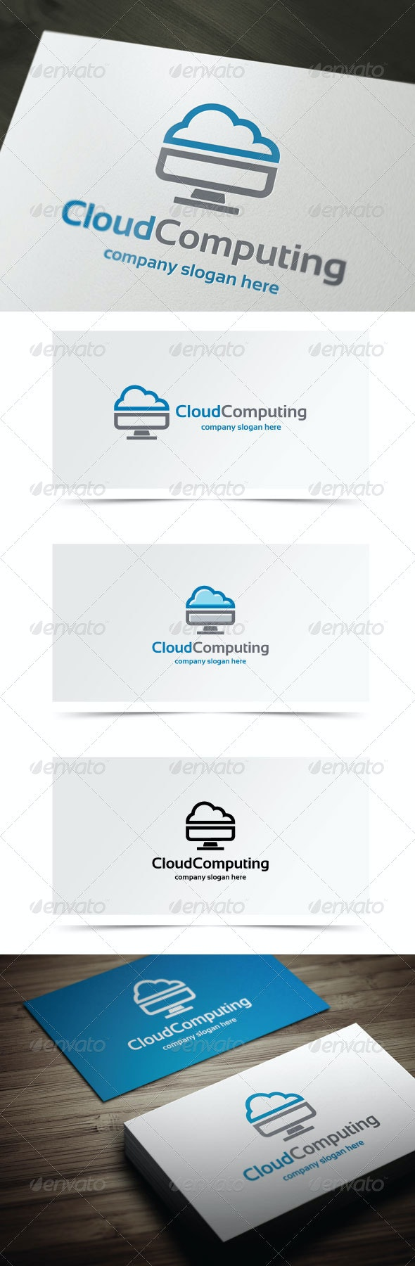 Cloud Computing - Objects Logo Templates