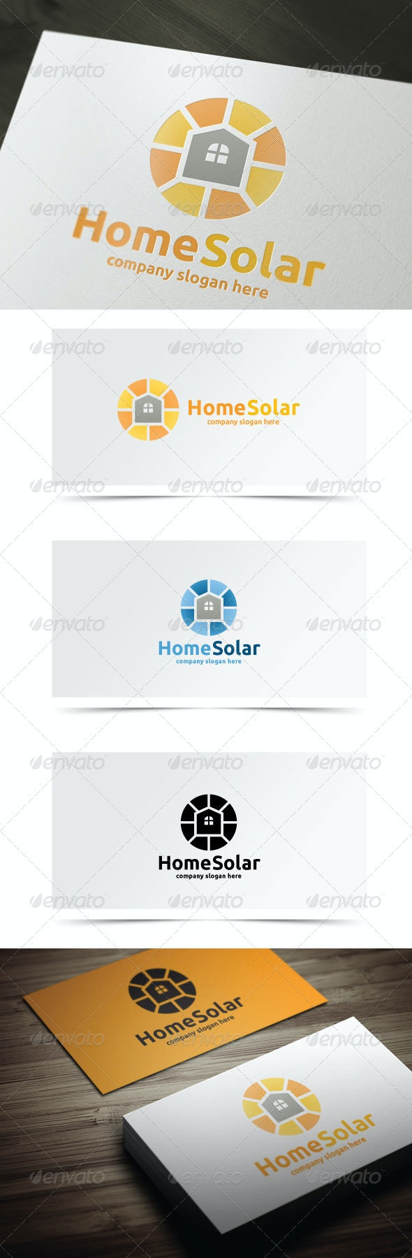 Home Solar - Objects Logo Templates