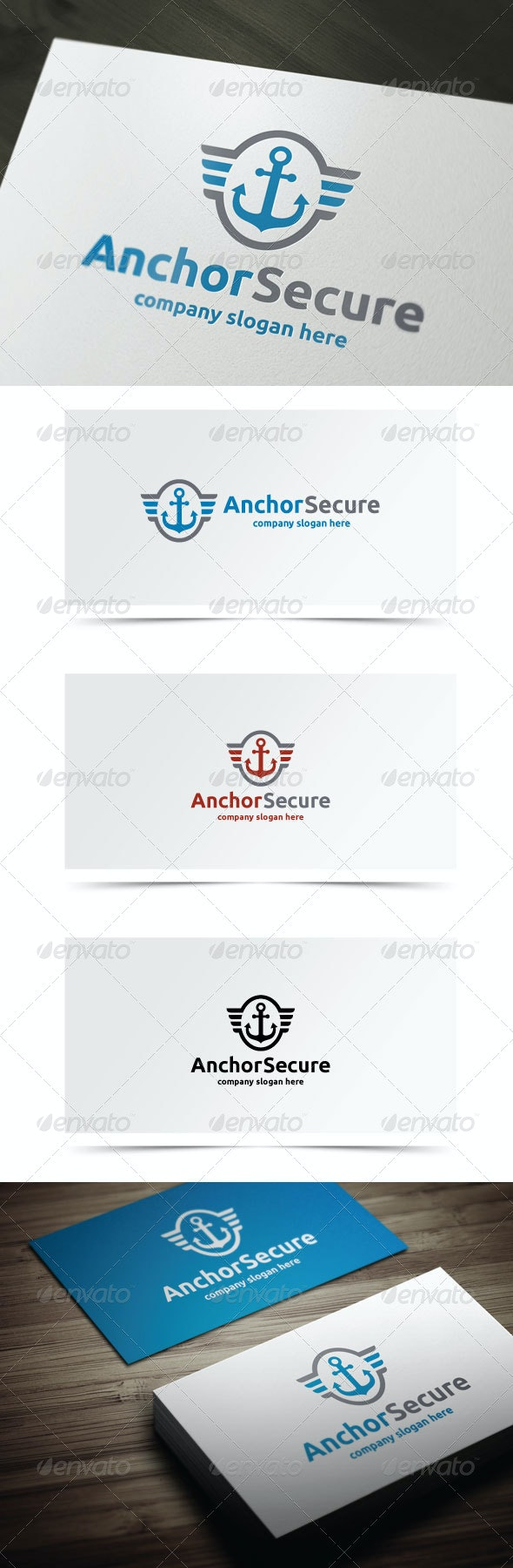 Anchor Secure - Objects Logo Templates