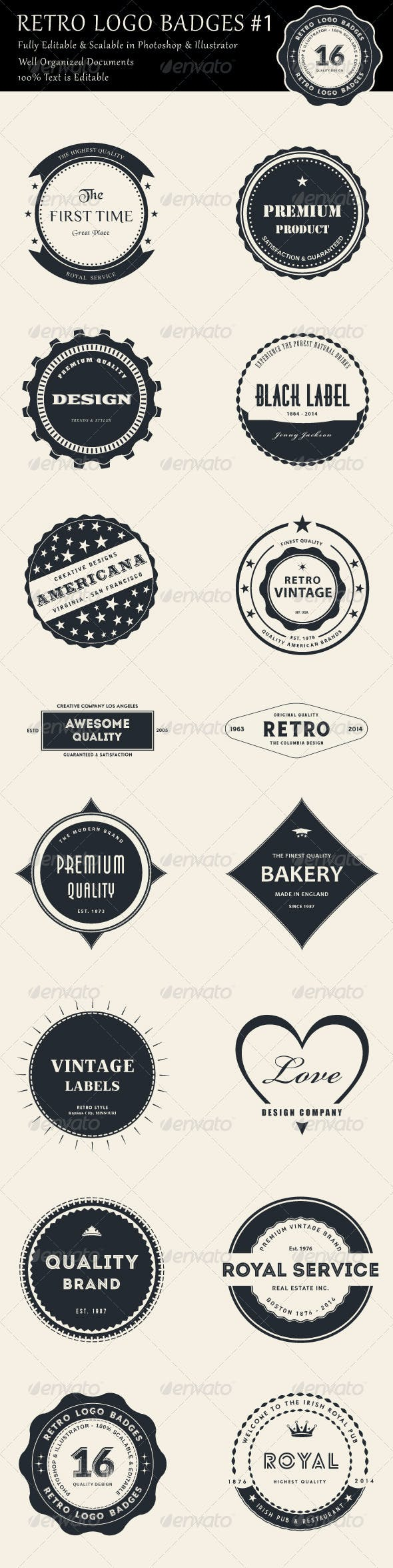 26 Best Badges & Sticker Templates