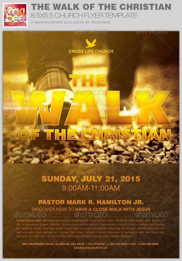 The Walk of the Christian Church Flyer Template - Church Flyers