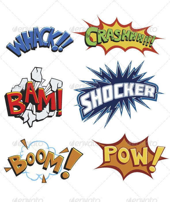 Comicbook Words - Miscellaneous Characters