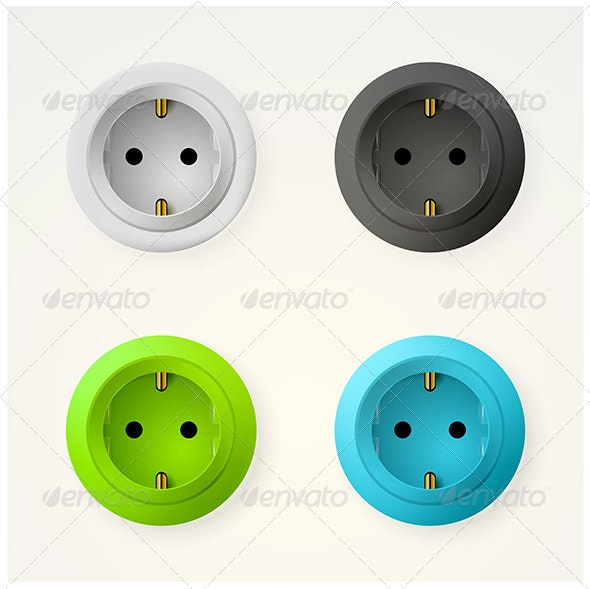 Illustration of Sockets - Man-made Objects Objects