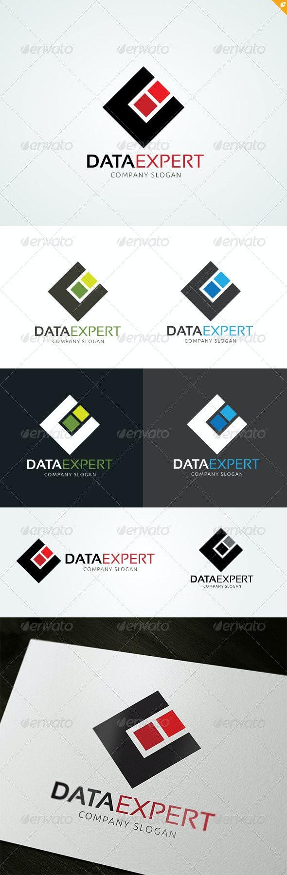 Data Expert - Objects Logo Templates