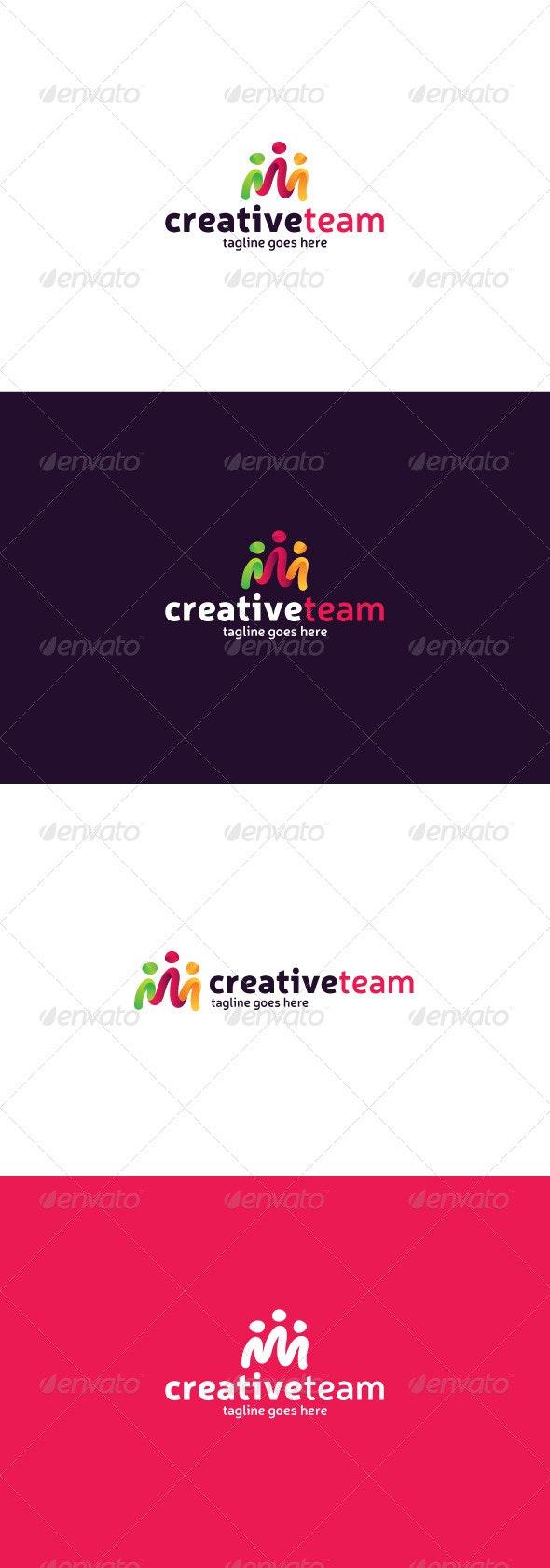 Creative Team Logo - Vector Abstract