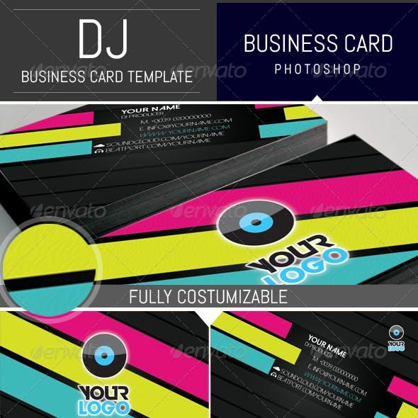 Modern Dj Business Card Template