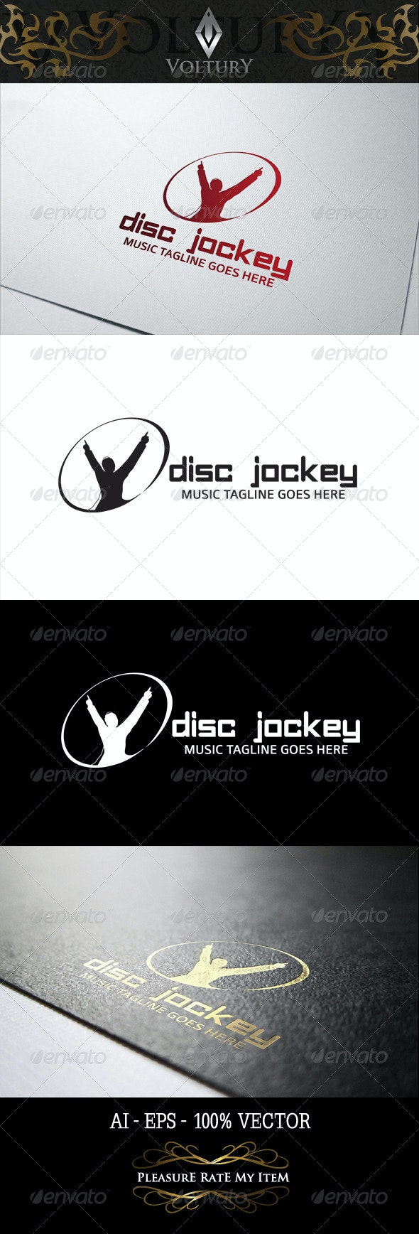 Disc Jockey Logo - Humans Logo Templates