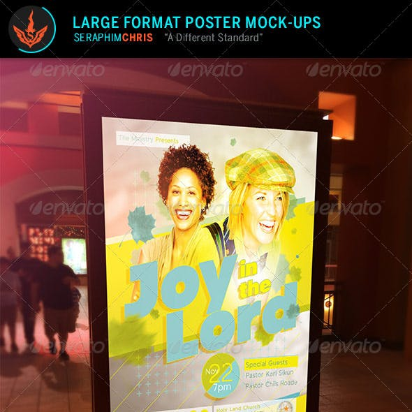 Large Format Poster Mock Up Template