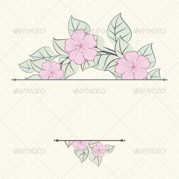 Floral Background in Retro Stile. - Backgrounds Decorative